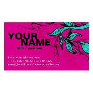 Bright pink cyan Card Business Card Templates