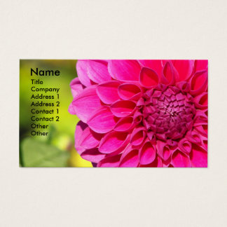 Bright Pink Dahlia Floral Business Card