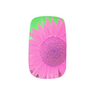 Bright Pink Daisy Nails Nail Wrap