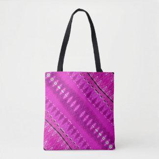 Bright Pink Diamond pattern Tote Bag