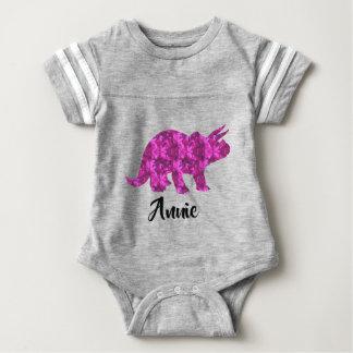 Bright Pink Dinosaur Adorable Cute Baby Girl Gift Baby Bodysuit
