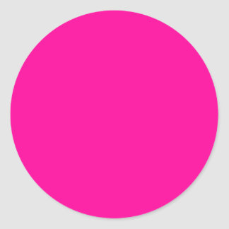 Bright Pink Dot Or Cirlce Classic Round Sticker