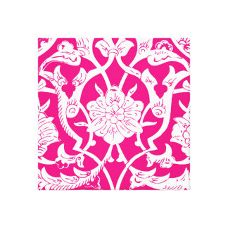 BRIGHT PINK ETHNIC PATTERN GALLERY WRAP CANVAS