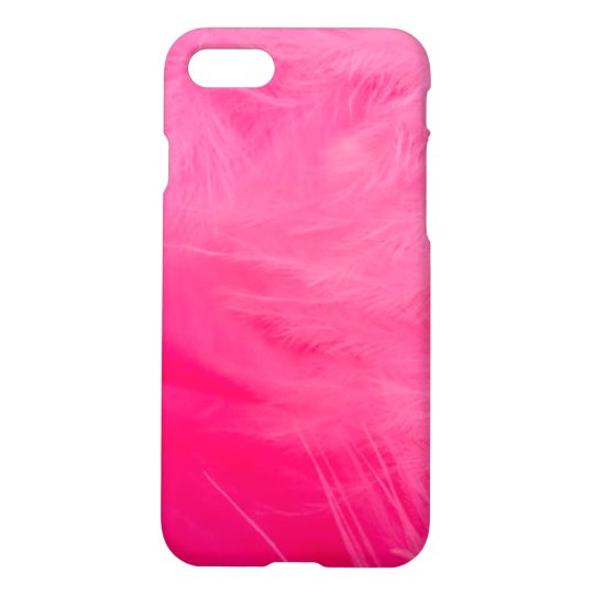 Bright Pink Feather Boa iPhone 7 Case