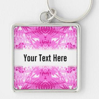 Bright Pink Fern Leaf Pattern. Keychain