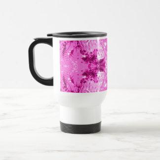 Bright Pink Fern Leaf Pattern. Mugs