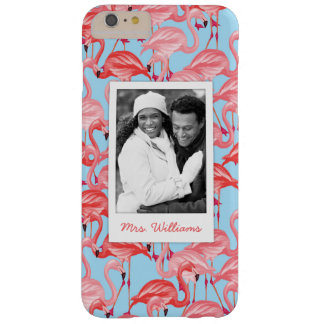 Bright Pink Flamingos | Add Your Photo & Name Barely There iPhone 6 Plus Case