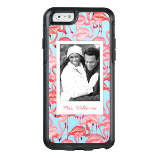 Bright Pink Flamingos | Add Your Photo & Name OtterBox iPhone 6/6s Case