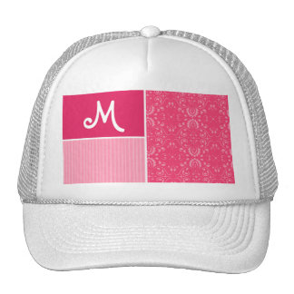 Bright Pink Floral Hats