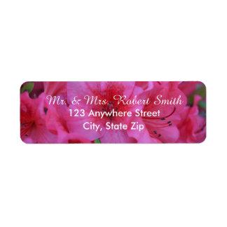 Bright Pink Floral Return Address Labels