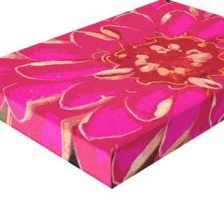 Bright Pink Flower Canvas Canvas Prints