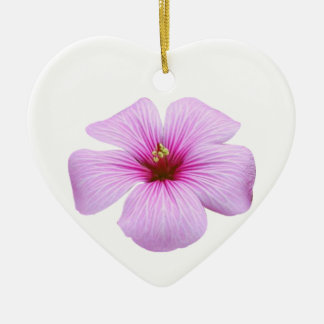 Bright Pink Flower Christmas Ornament