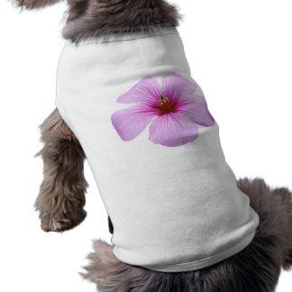 Bright Pink Flower Dog Tee Shirt
