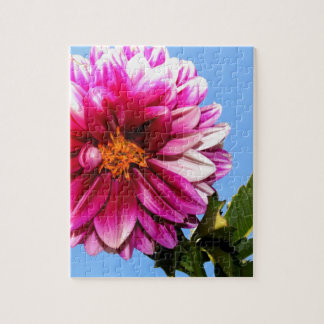 Bright Pink Flower Jigsaw Puzzle