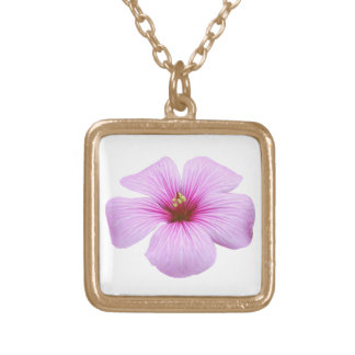 Bright Pink Flower Necklace