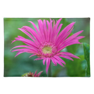 Bright pink flower placemat