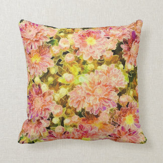 Bright Pink Flower Throw pillow Cushions