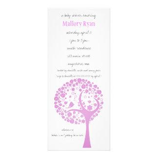 Bright Pink Flowering Tree Baby Shower Invitation