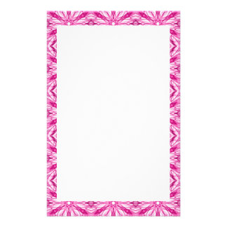 Bright Pink Fractal Pattern Stationery