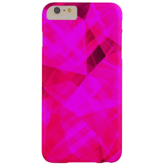 Bright Pink Geometric Pattern Barely There iPhone 6 Plus Case