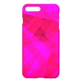 Bright Pink Geometric Pattern iPhone 7 Plus Case