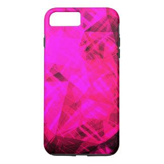 Bright Pink Geometric Pattern iPhone 7 Plus Case