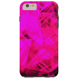 Bright Pink Geometric Pattern Tough iPhone 6 Plus Case