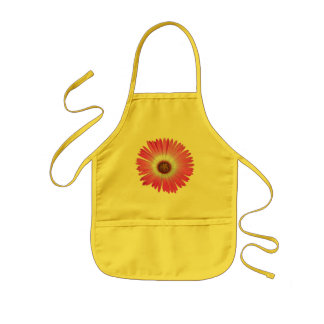 Bright Pink Gerber Daisy Flower in full bloom Aprons