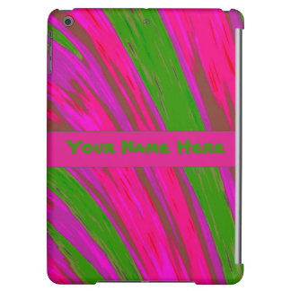 Bright Pink Green Color Abstract