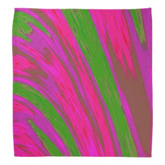 Bright Pink Green Color Swish Bandana