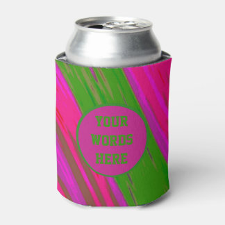 Bright pink green Color Swish Can Cooler