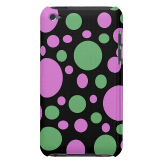 bright pink green dots barely there iPod cases
