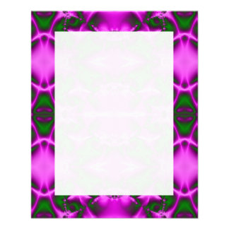 Bright Pink Green Fractal Abstract Design 11.5 Cm X 14 Cm Flyer