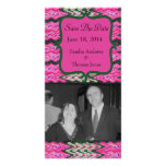 Bright Pink Green Save the Date Photo Card