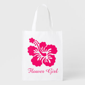 Bright Pink Hibiscus Flower Girl Favor