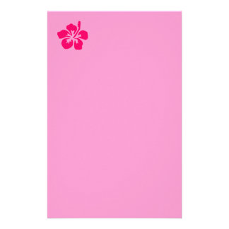 Bright Pink Hibiscus Stationery