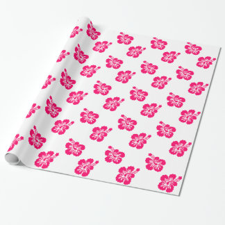 Bright Pink Hibiscus Wrapping Paper