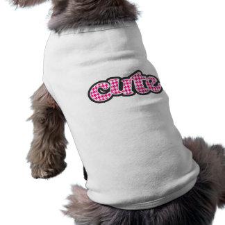 Bright Pink Houndstooth Dog Tshirt