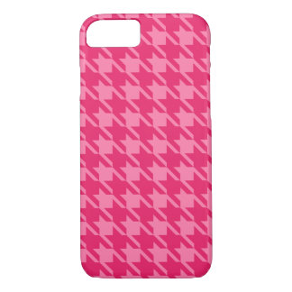 Bright Pink Houndstooth iPhone 7 case