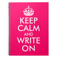 Bright Pink Keep Calm and Write On