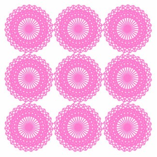Bright Pink Lace Pattern Design Cut Outs