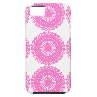 Bright Pink Lace Pattern Design. Tough iPhone 5 Case