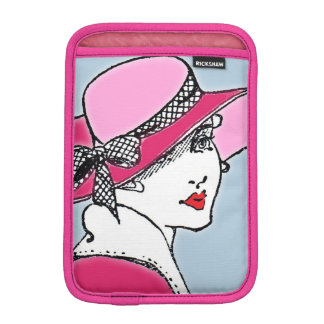 Bright pink mini iPad sleeve