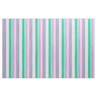 Bright Pink Mint Green Watercolor Stripes Pattern Fabric