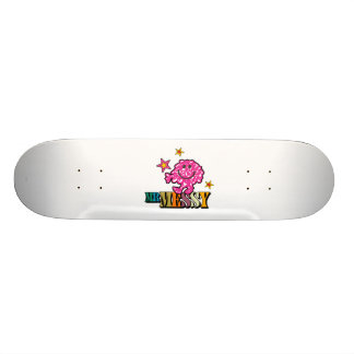 Bright Pink Mr. Messy | Sparkling Stars Skateboard Deck