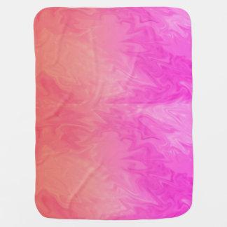 Bright Pink Orange background Buggy Blanket