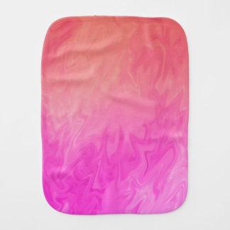 Bright Pink Orange background Burp Cloth