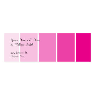 Bright Pink Paint Samples Pack Of Skinny Business Cards