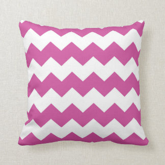 Bright Pink / Persian Rose Chevron Pattern Cushion
