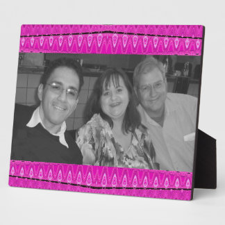 bright pink photoframe display plaque